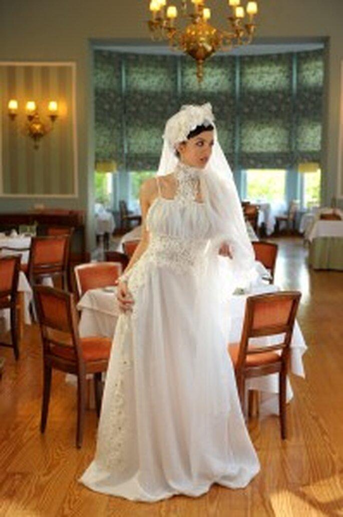 Vestido de Noiva 2010 Vintage - Olga Cardoso Pinto