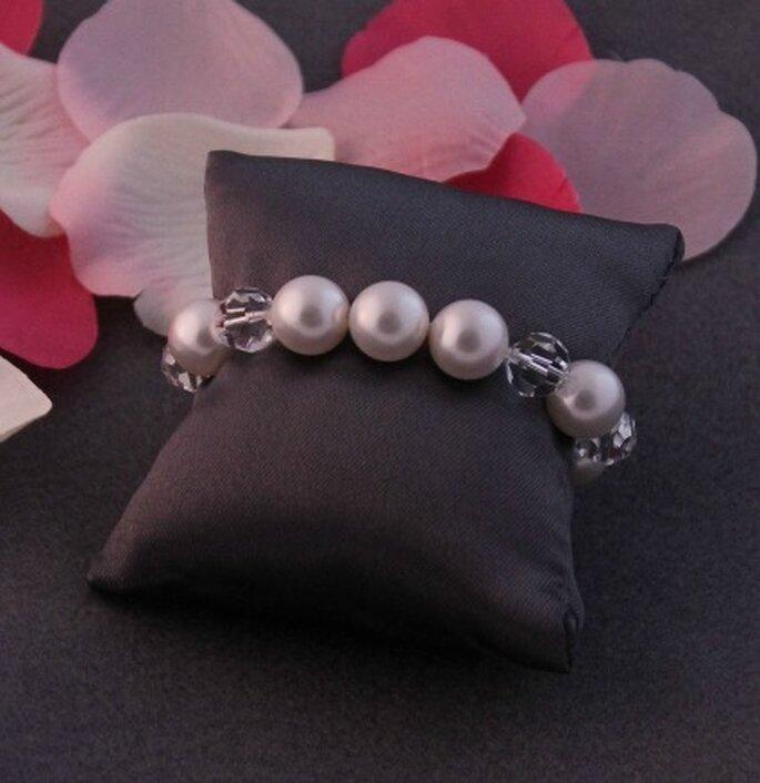 Bracelet de mariée Coeur Sucré, modèle Julie - Photo : Coeur Sucré