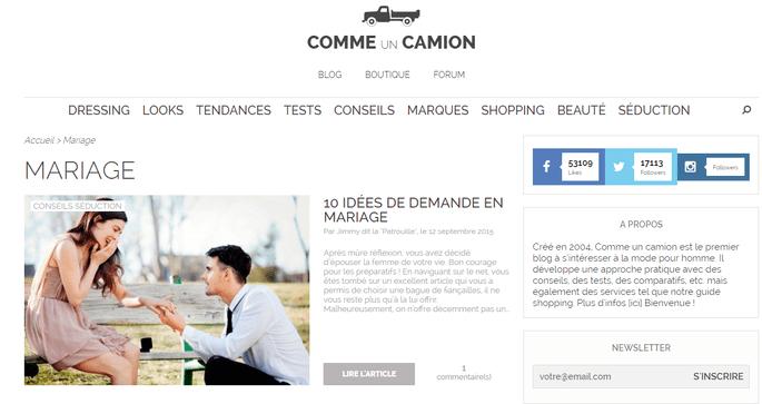 Photo : Comme Un Camion