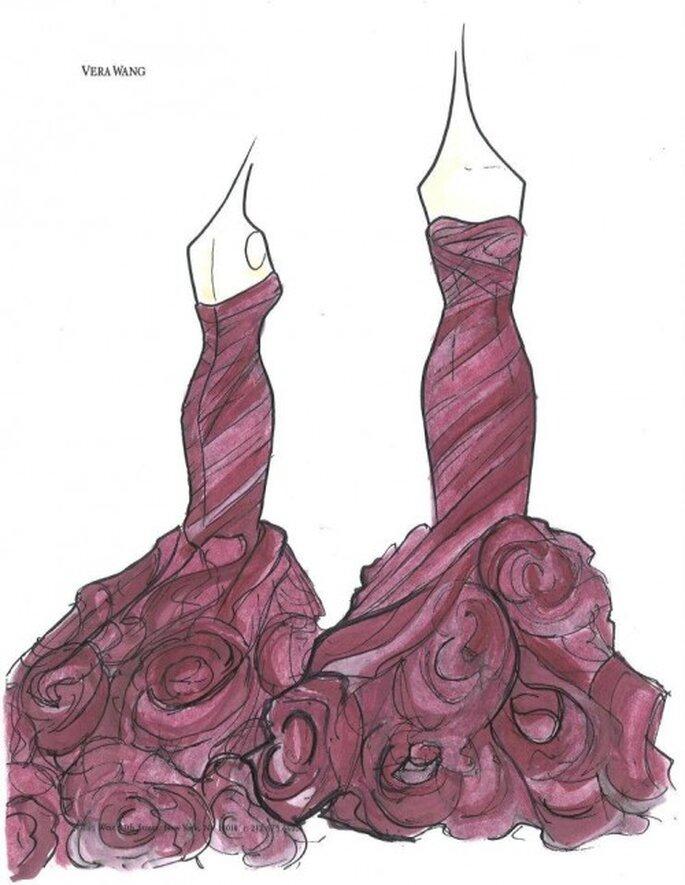 Inspírate! Espectaculares bocetos de vestidos de novia y de fiesta ...