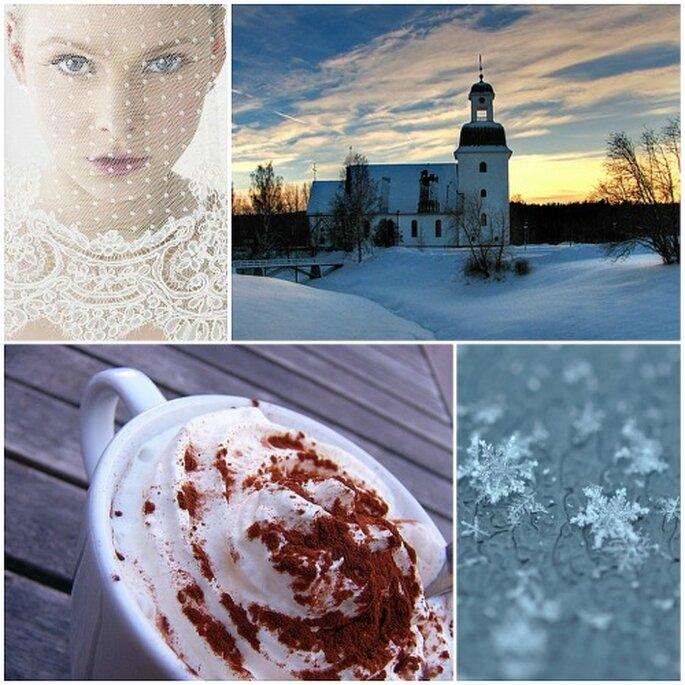 Flocons de neige, mariées romantiques et chocolat chaud : se marier en hiver a la cote