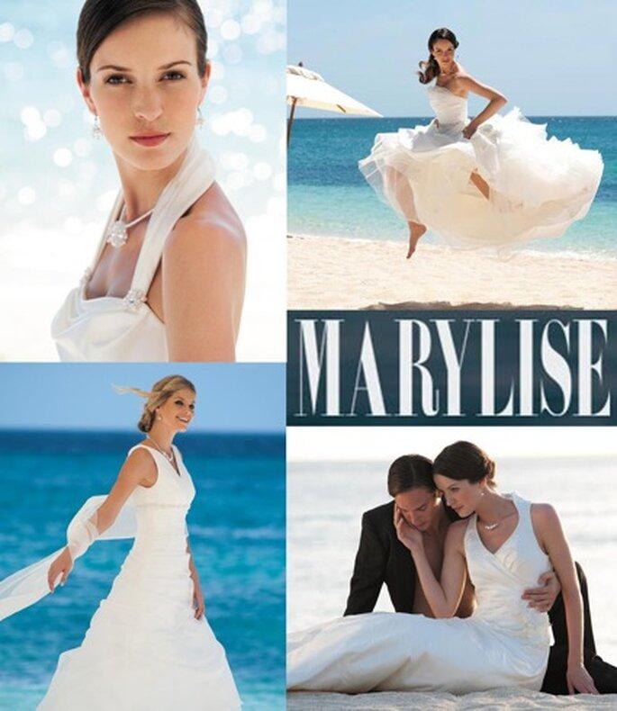 """Wer behauptet, schlicht sei langeilig? Hier kommen schicke Trends für die """"einfache"""" Braut von Marylise."""