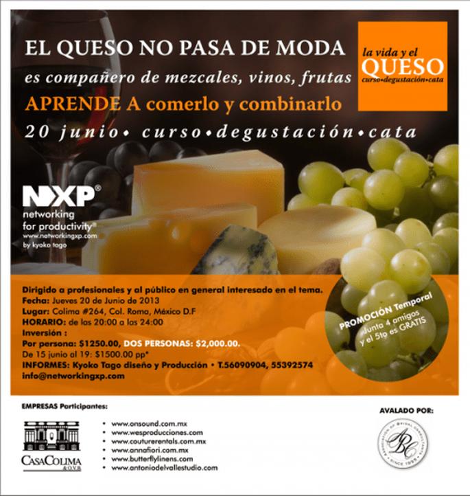 Curso de cata y degustación de quesos próximo 20 de junio en Casa Colima