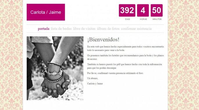Jaime y Carlota gestionaron su lista de invitados a través de su web de bodas de Zankyou.