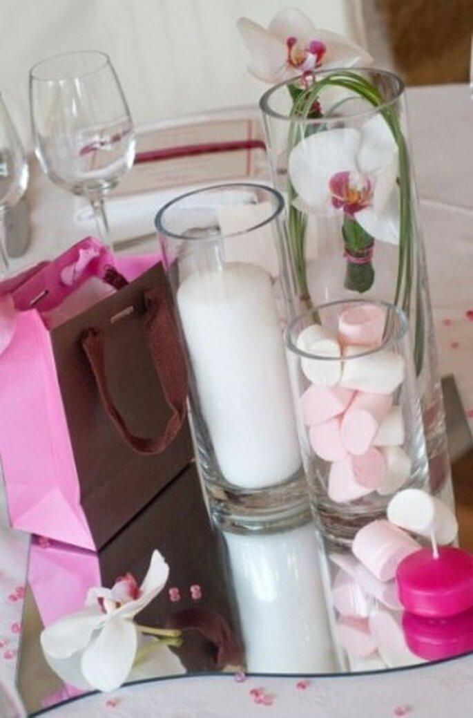 Décoration de table de mariage chamallow