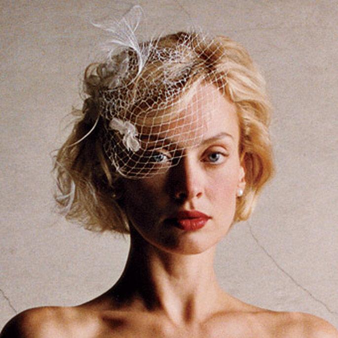 Velo para novia estilo vintage. Foto: www.100matrimoni.it