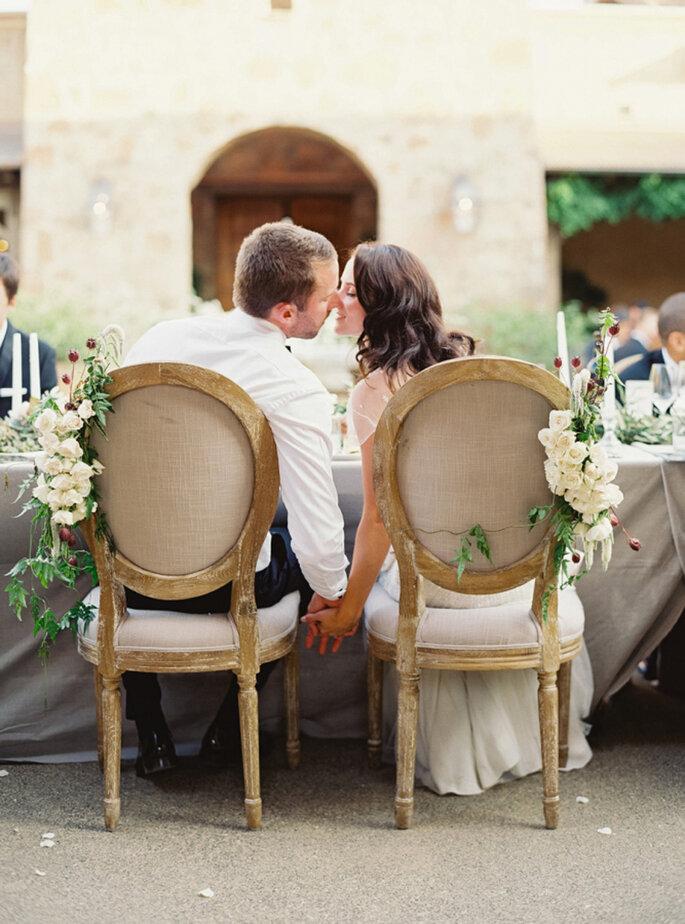 Decoración de las sillas de boda