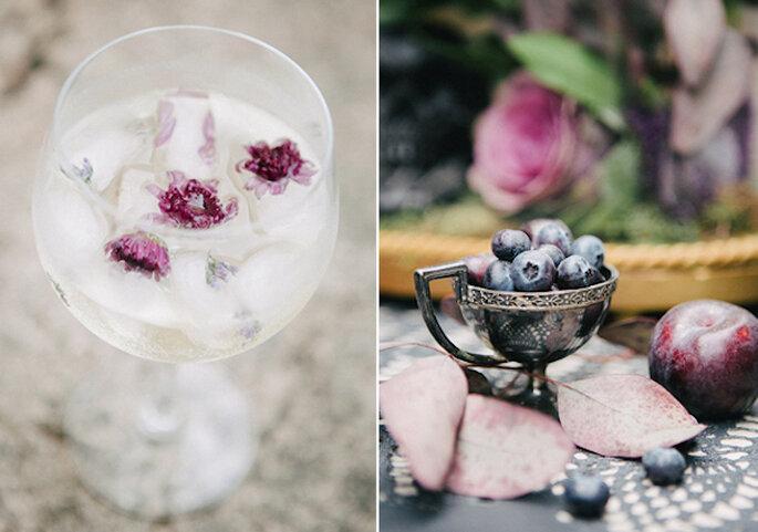 Tonos ciruela para magnificar la elegancia de tu boda - Foto Heather Waraksa