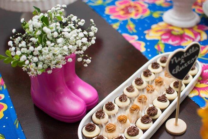 Brigadeiro de nutella e churros para casamento
