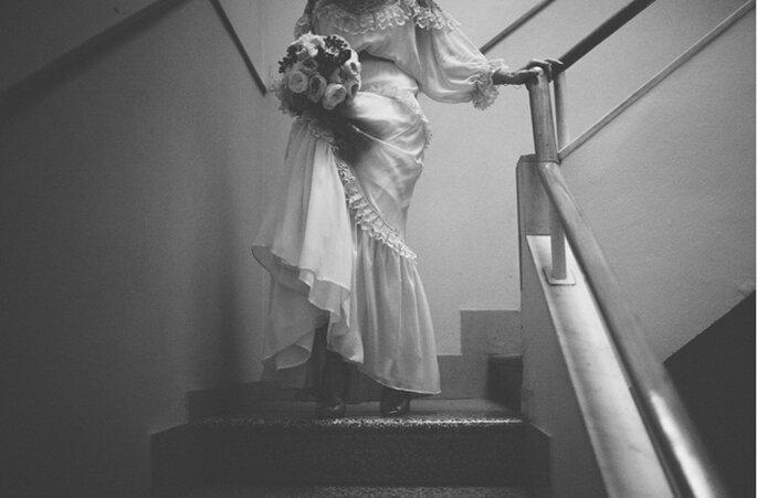 Mariage vintage chic. Photo: Infraordinario Studio Fotografico
