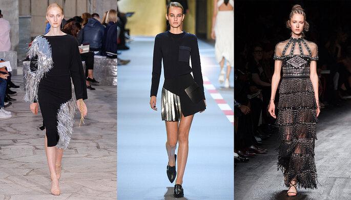 Photo (de gauche à droite) : Loewe, Mugler, Valentino