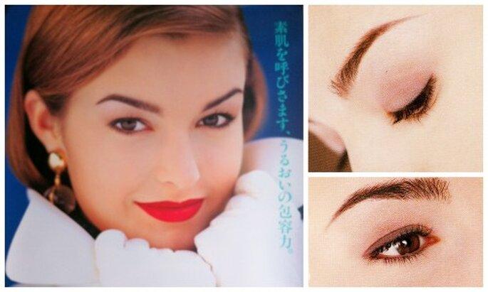 Imágenes de la campaña de cosméticos en la que me depilaron las cejas más de lo debido.