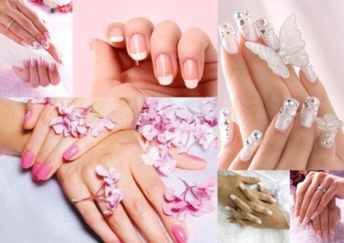 Unhas decoradas para noivas e manicure francesa