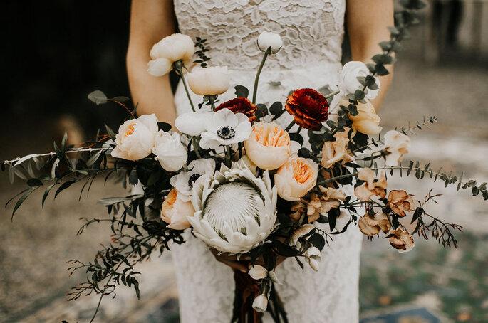 Ramos de novia con peonías