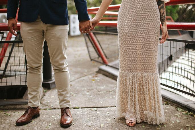Sapato do noivo: The Craft Shoes Factory - Sapato da noiva: Luana Zabot - Foto: Marcelinos Fotografia