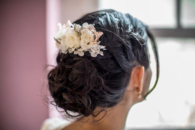 Flor para cabelo noiva