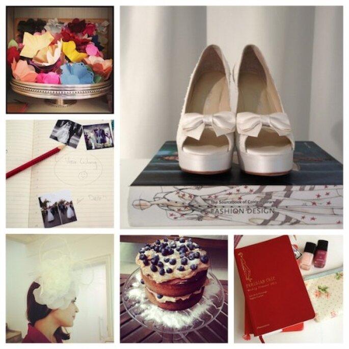 Cadernos e recortes de revistas de noivas Foto: Mariana Ortigão