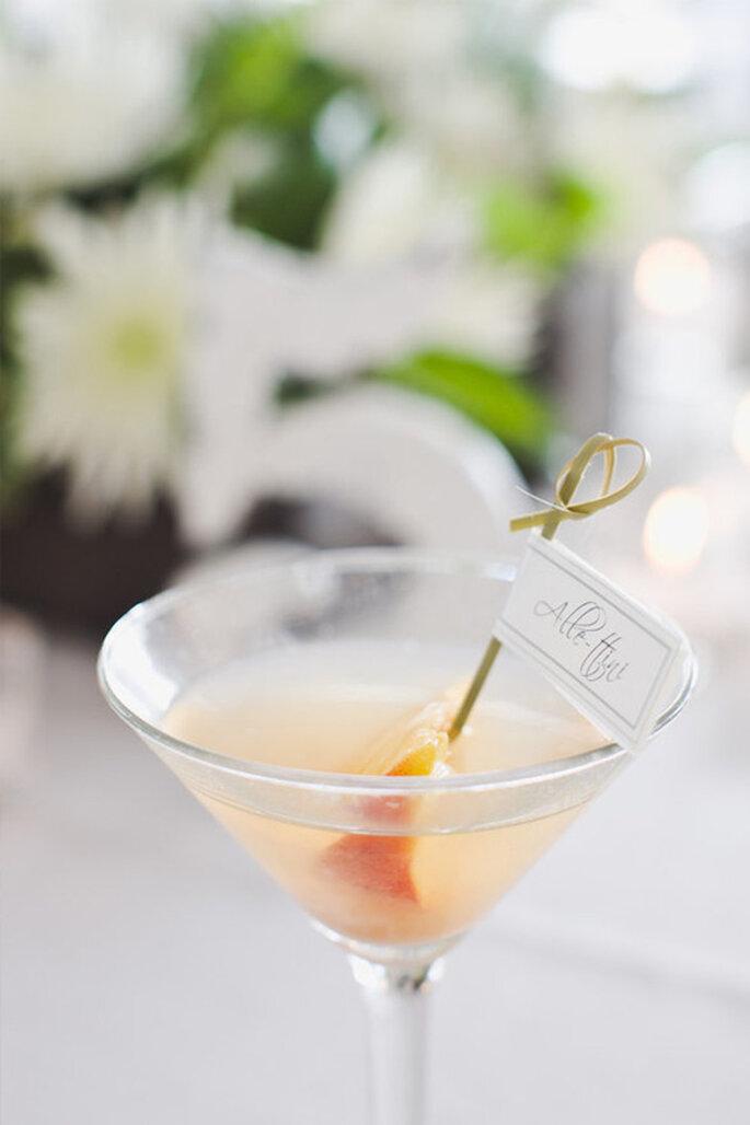 Cocktail marque-place pour votre mariage
