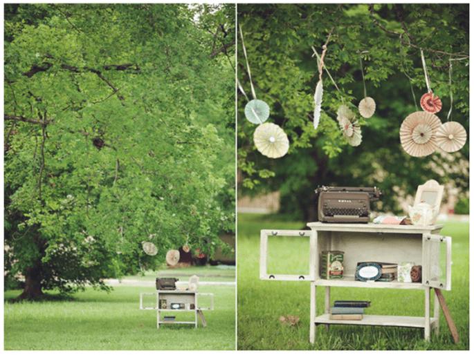Incroyables idées déco pour un mariage vintage super trendy - Photo Chris and Adrienne Scott