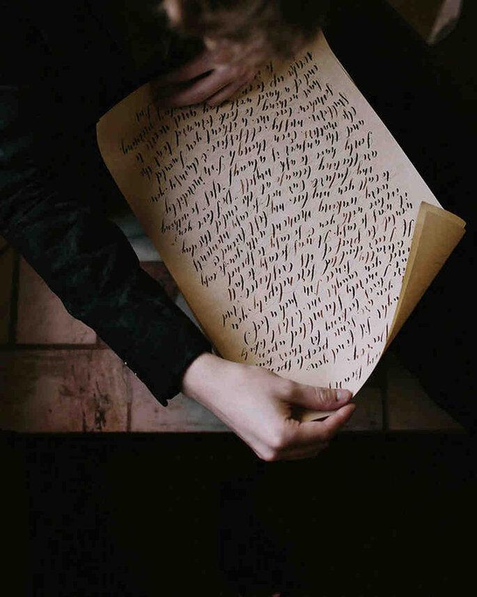 Handgeschriebene Ehegelübde.