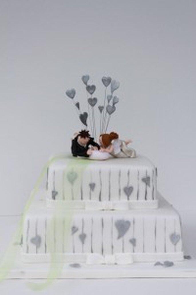 Herzen Hochzeitstorte
