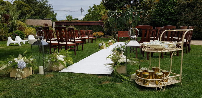 Jardim com altar