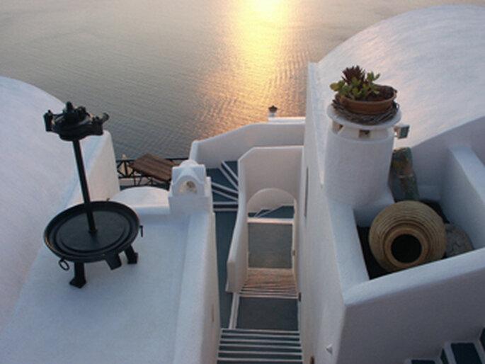Santorini, île volcanique, Grèce