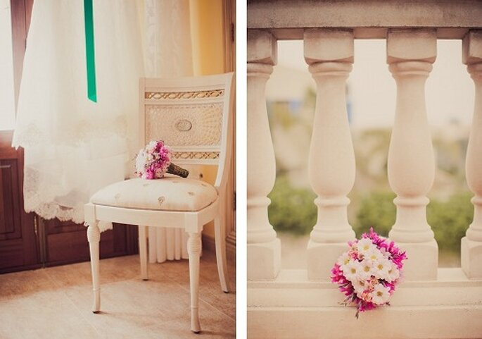 Hochzeit auf Mallorca. Der Brautstrauss - Foto: Nadia Meli.