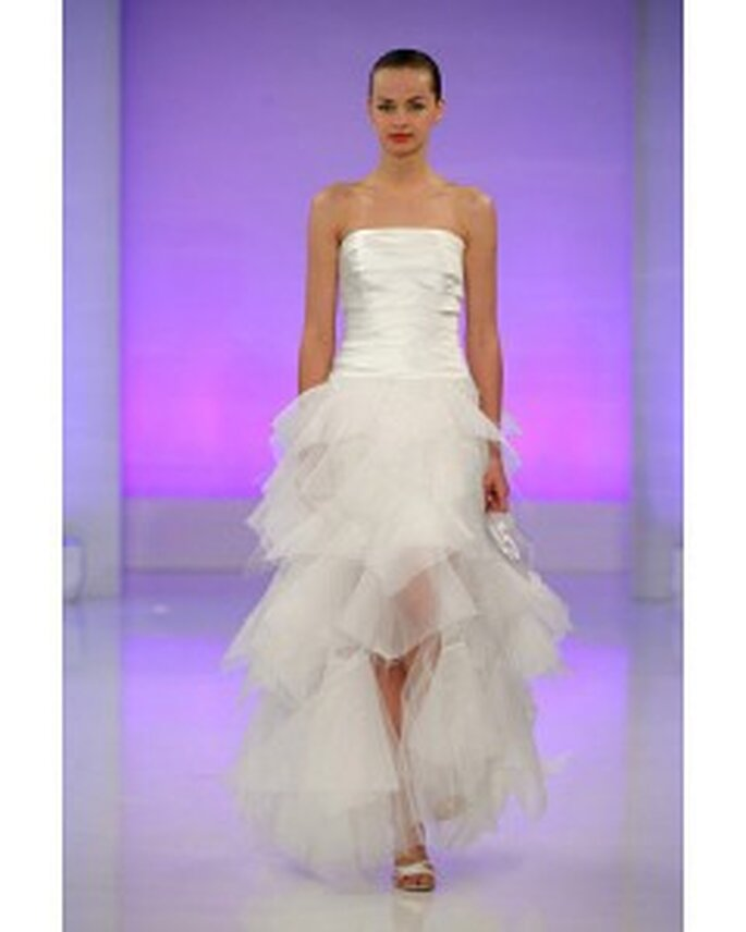 Off the shoulder bodice and tulle ruffled skirt from Cymbeline's 2010 spring collection