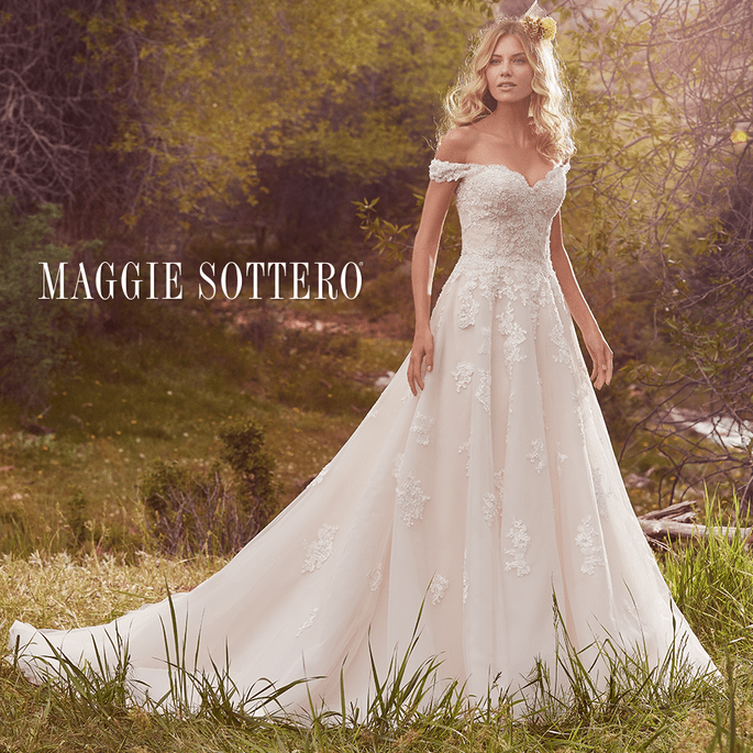 Saffron.  Maggie Sottero: Cordelia Collection.