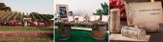 Mariage sur le thème du vin - Crédit Photos : Julie Mikos, Wedding Chicks, Love'n Gift