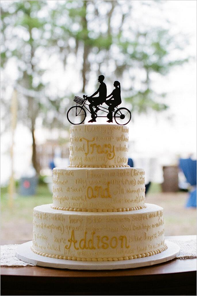 Muñecos originales para el pastel de bodas - Foto Kallima Photography