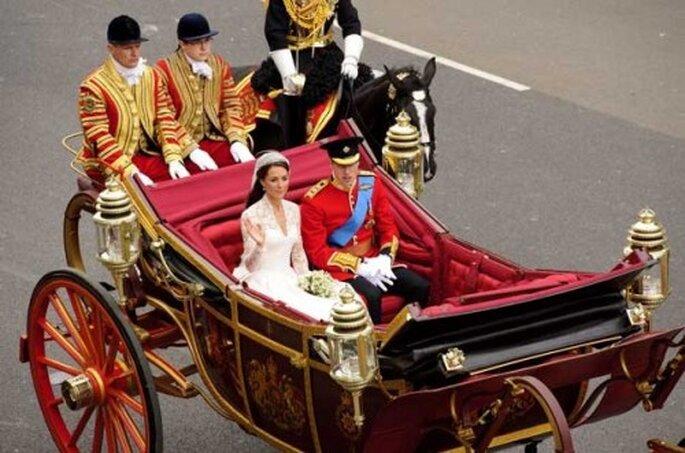 Le Prince William et Katherine Middleton ont misé sur la calèche pour leur mariage