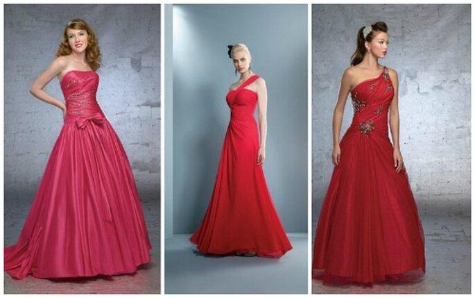 Varie tonalità di rosso per questi abiti seducenti della Collezione 2012 firmata Demetrios
