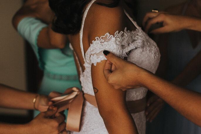 vestido de noiva DIY