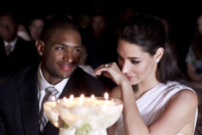 Emotivo momento en la boda de Amelia Vega y Al Horford
