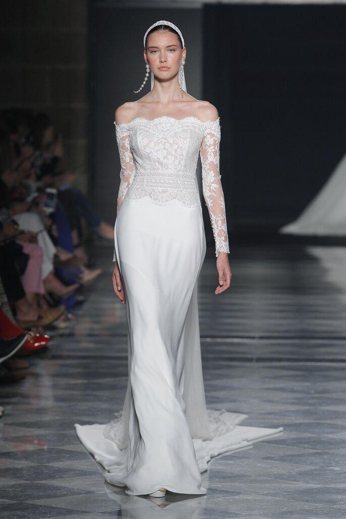 Robe de mariée sirène épaules dénudées