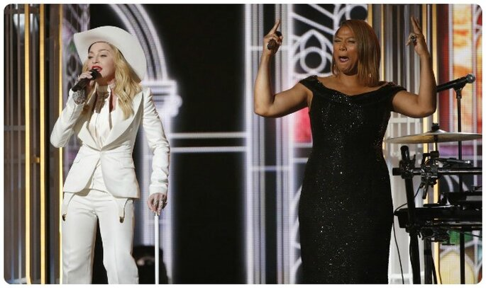 Madonna e Queen Latifah ai Grammy 2014