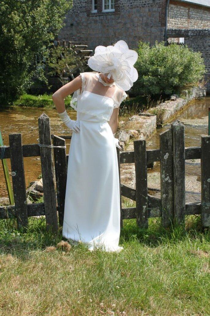 Robe de mariée sur mesure Pascale de Lavernette 2014 - Modèle : Ambre