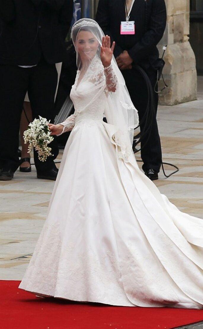 Vestido de Kate de la diseñadora Sarah Burton para Alexander McQueen