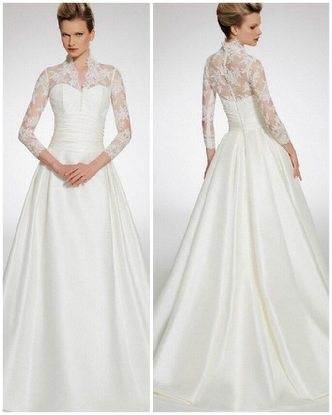 Vestido de novia inspirado en la princesa Catalina Middleton. Patricia Avedaño