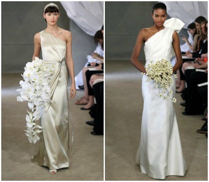 Due abiti firmati Carolina Herrera Bridal Collection 2013. Foto www.carolinaherrera.com