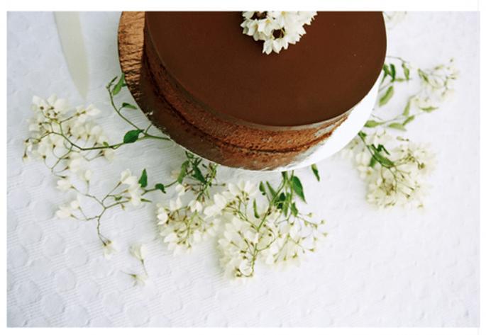 Pastel de bodas sabor chocolate - Foto Myrtle & Marjoram