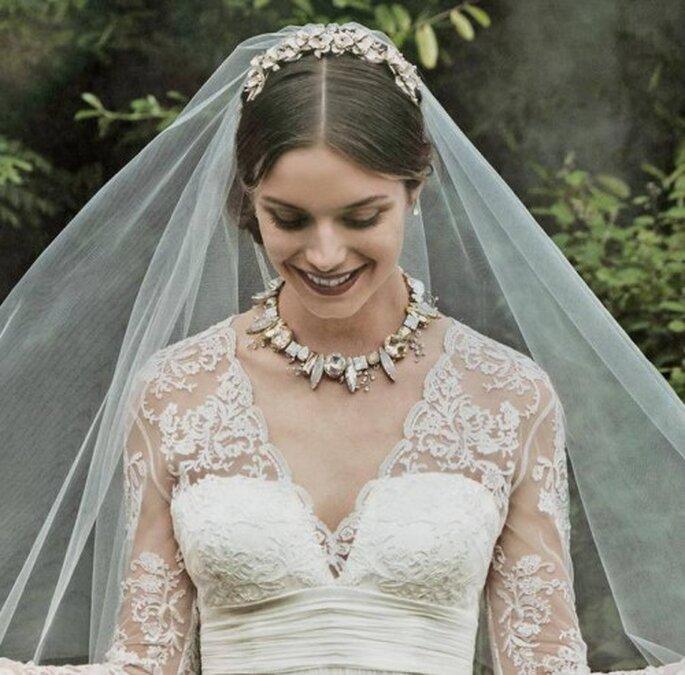 Velo en tendencia para novia - Foto BHLDN