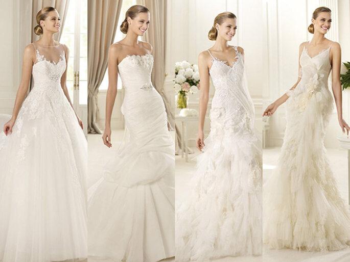 8246ed95ab1 Verspielte und pompöse Brautkleider sind nach wie vor sehr beliebt – Foto   Pronovias