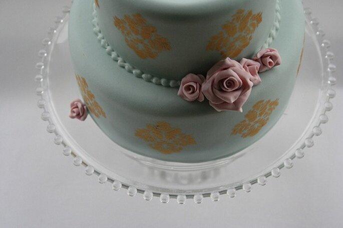 Tarta con textura cerámica de Veronica Made. Foto: Victoria Made.