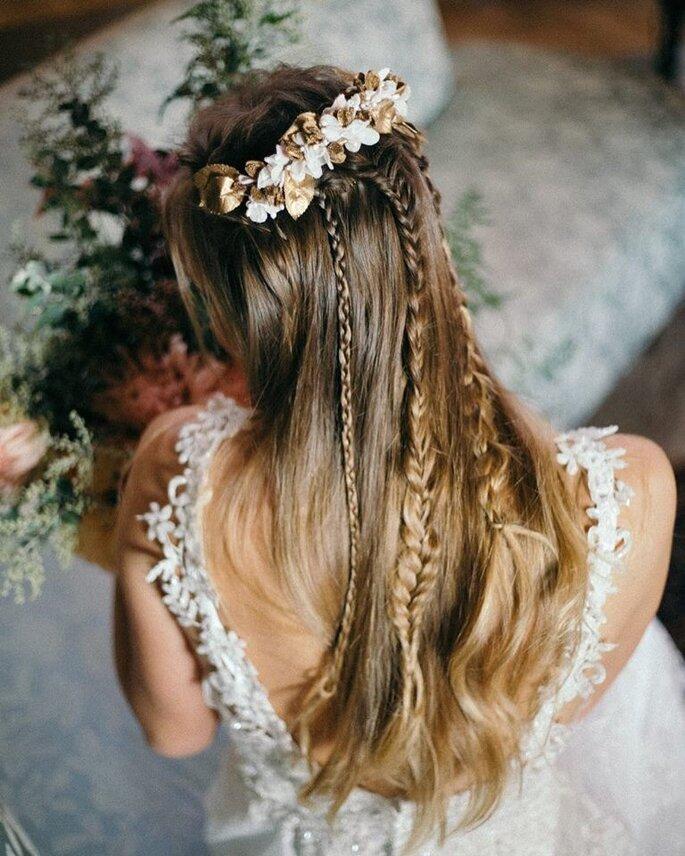 Penteado noiva com tranças