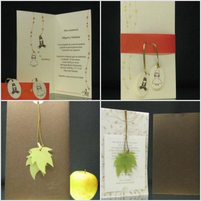 Los sobre son un importante detalle de las invitaciones. Fotos: Impresiones Finas