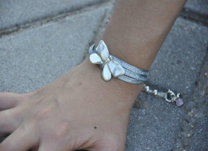 Pulsera con mariposa de plata Apodemia