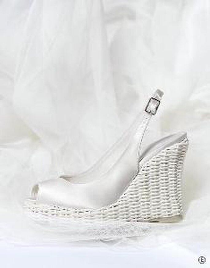 Rosa Clará 2010 - Chaussure à talon compensé en satin